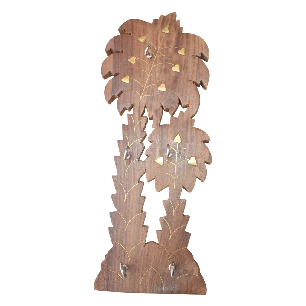 Handmade Tree Design Wooden Key Holder From Saharanpur Uttar Pradesh AJODI001989