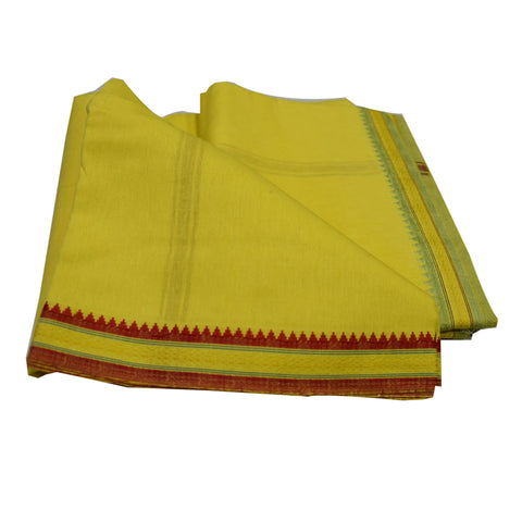 Yellow Colour Handloom Cotton Joda AJODI002012