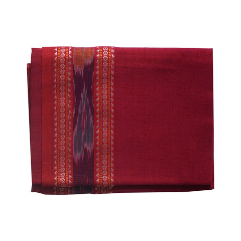 Handwoven Pink Color Sambalpuri cotton Blouse Piece AJODI002061