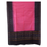 Coffee with Pink Color Sambalpuri Odisha Handloom Ladies Cotton Dress Material AJODI002097