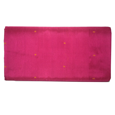 Pink with Golden Bomkai Design Sambalpuri Handloom Silk Saree from Odisha AJODI002119