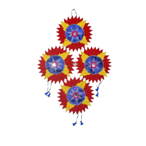 Handmade Applique Velvet Star Sunflower from Home Decor from Pipili Odisha AJODI002174