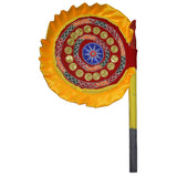 Handmade Applique Velvet Hand Fan for Deities from Pipili Odisha AJODI002176