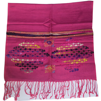 Pink Colour Stole  Scarf From Kashmir AJODI002229