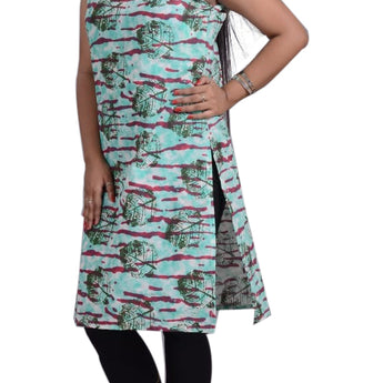 PRINTED COTTON KURTI FOR  WOMEN AJODI002322