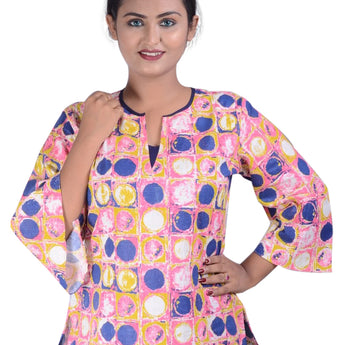 Cotton Printed Design Kurti AJODI002342