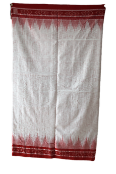 Odisha Handloom Nuapatna Women's Jharana Cotton Saree White AJODI002596