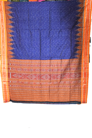 ODISHA HANDLOOM BLUE COTTON NUAPATNA JHARANA SAREE AJODI002598
