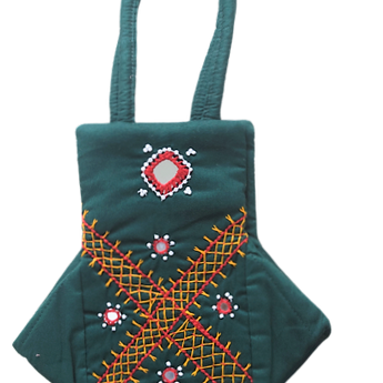 Handmade Fancy Ladies Bag With Mobile Holder AJODI002987