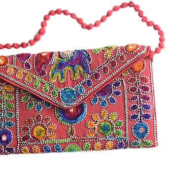 Handmade Fancy Ladies Sling Bag With Mobile Holder AJODI003022