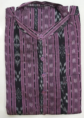 Ikkat design purple with black Odisha Handloom Sambalpuri Kurta for men