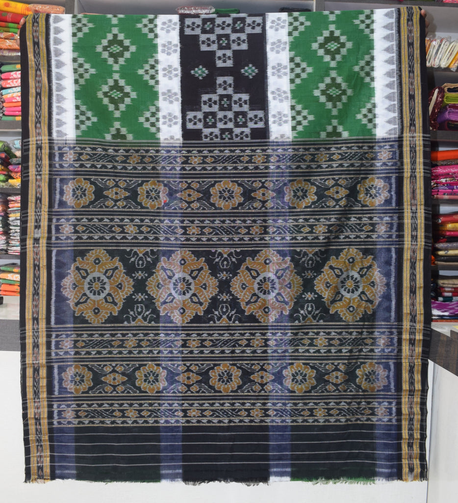 3d Design Ikat Handloom Cotton Saree of Odisha Nuapatna Online Shopping AJODI003814
