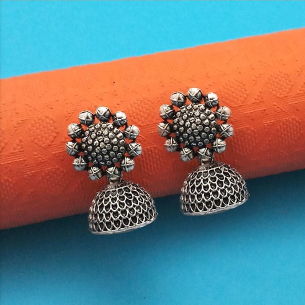 Flower design Handmade Oxidized jewellery online shopping AJODI006008
