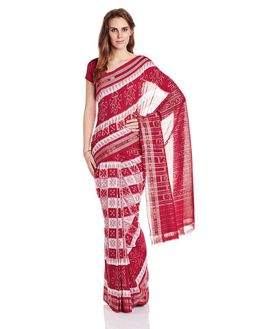 Odisha Handloom Flower Design Bada Phula Cotton Bandha Saree from Nuapatna AJODI002588