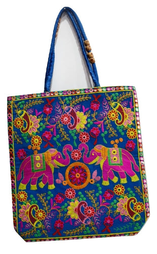 Pipili Handmade Big Elephant Design Hand Bag AJODI001631