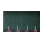 Temple Design Deep Green with Pink Ikat Handloom silk saree of Odisha, Nuapatna AJODI000219