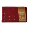 Butti Design Red with Golden Border West Bengal Handloom cotton Saree