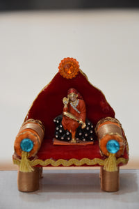 Lord Saibaba Handicraft made from Paper and Velvet for Home Decoration AJODI001931