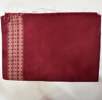 Maroon Handloom Cotton Blouse Piece Material AJODI001949