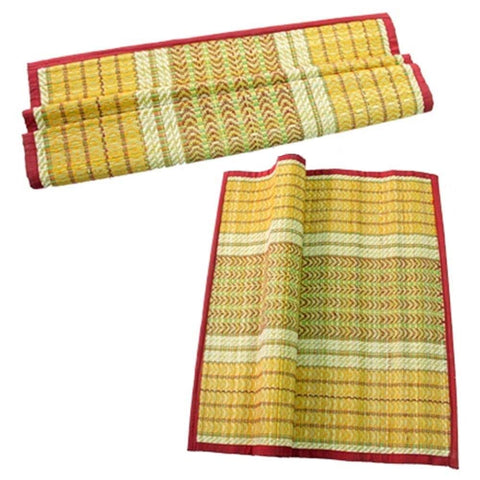 Odisha Ayurved Hub HandMade Kusha Grass Aasan Mat  Set of 2 Pieces AJODI001648