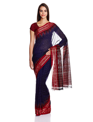 Odisha Handloom Blue Cotton Nuapatna Jharana Saree AJODI002594