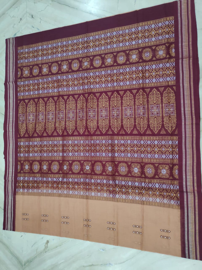 sambalpuri bomkei cotton saree with matching blouse piece