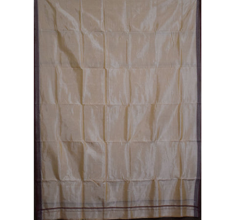 Light Sandalwood Color Handloom Silk joda for Puja wear made in Odisha Nuapatna AJODI001162