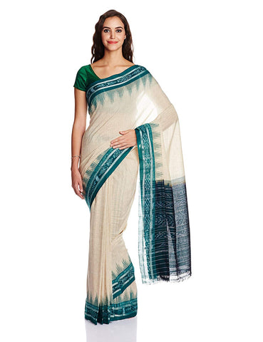 Nuapatna Cotton Odisha Handloom Jharana Saree AJODI002597