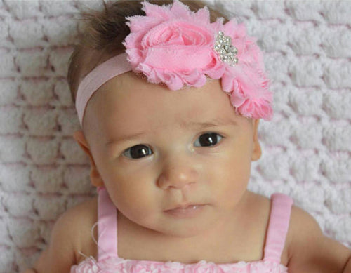 Baby Girl Headband! Shabby Bling 4 Colors to