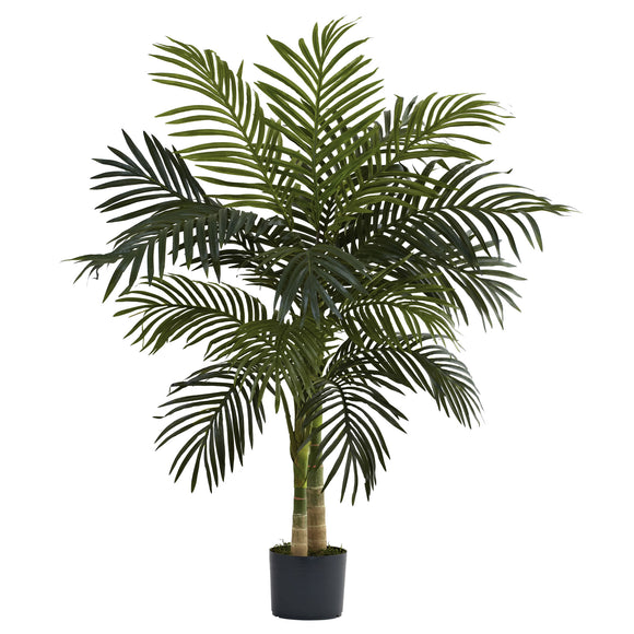 4' Golden Cane Palm Tree Nearly Natural - shopADON