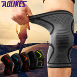 1Pair Fitness Running Cycling Knee Support Braces Elastic Nylon Sport Knee Pad Sleeve for Basketball Volleyball - shopADON