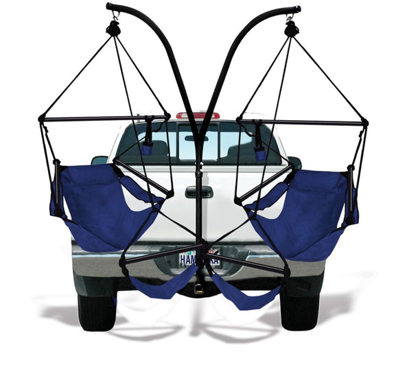 Hammaka Trailer Hitch Stand and Midnight Blue Hammaka Chairs Combo - shopADON