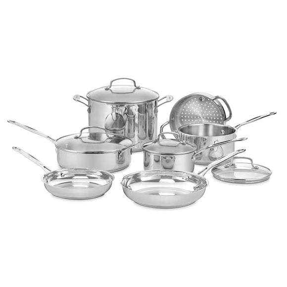 Cuisinart Chef's Classic 11 Piece Cookware Set - 77-11G - shopADON