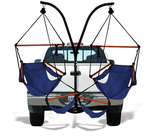Hammaka Trailer Hitch Stand With Midnight Blue Hammaka Chairs Combo - shopADON
