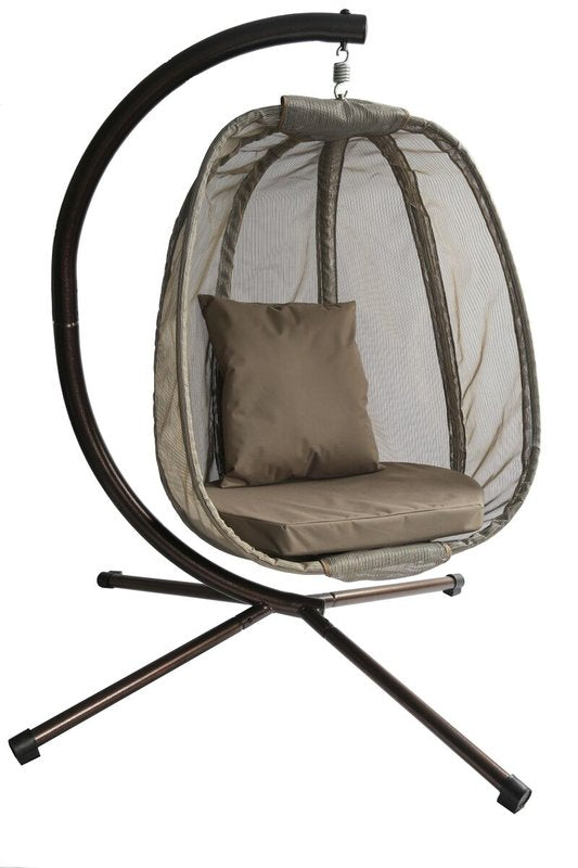 Egg Swing Chair with Stand outdoor hanging swing - shopADON
