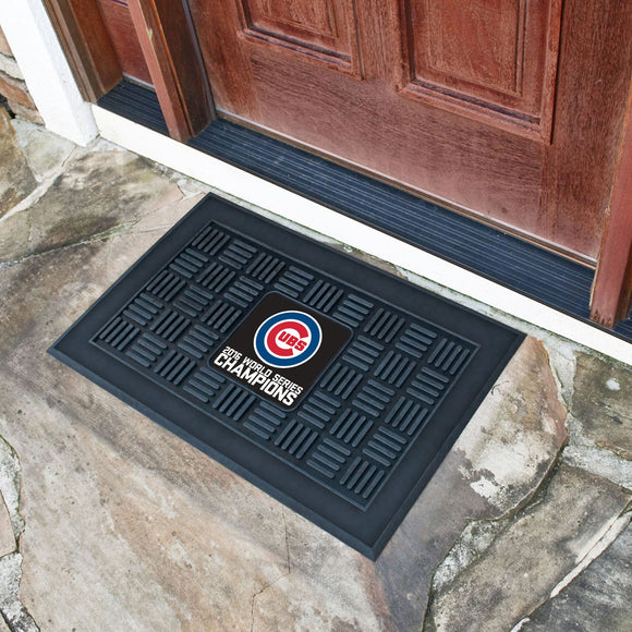 Chicago Cubs World Series Champions Medallion Door Mat - shopADON