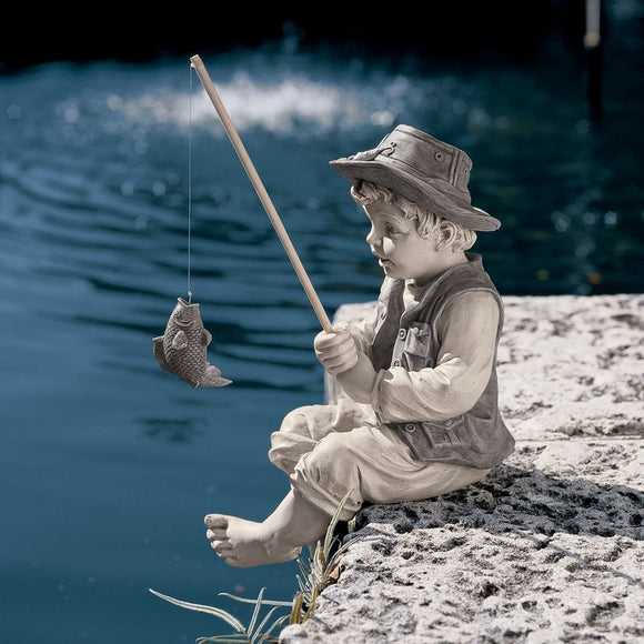 Frederic The Little Fisherman of Avignon Statue Garden - shopADON