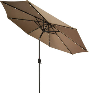 Gorman 9' Lighted Umbrella Patio Garden Outdoor - shopADON