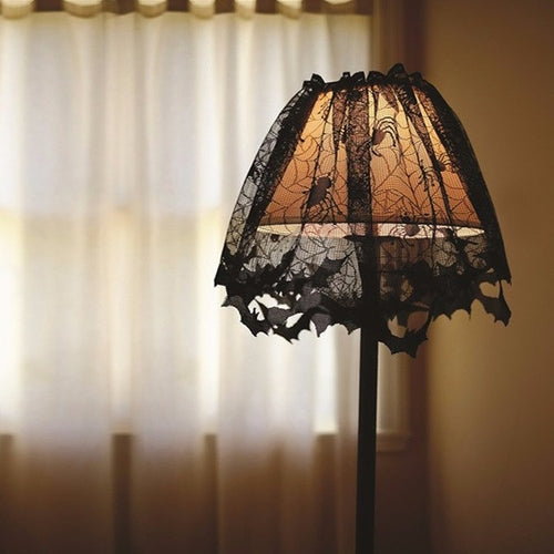 Halloween Lamp Cover Lace Tablecloth Halloween - shopADON