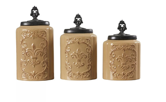 Kitchen Canister Set 3 Pcs - shopADON