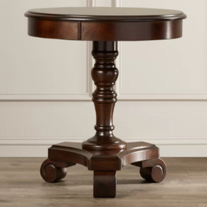 Alcott Hill Victoria End Table Wood Dark Brown - shopADON