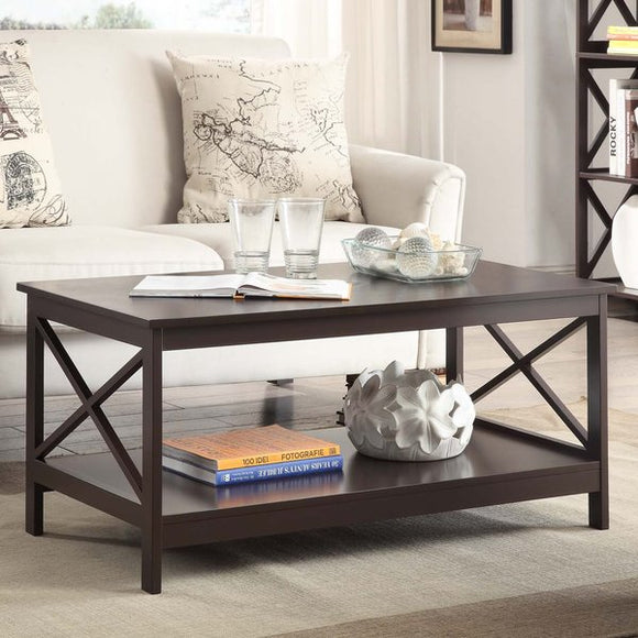 Stoneford Coffee Table by Beachcrest Home - Expresso
