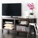 "Sunbury 58"" TV Stand with four wide cubby shelves - SHOPADON"