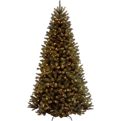 5' Green Spruce Trees Artificial Christmas Tree with 550 Incandescent with Lights - shopADON