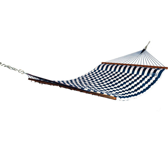Blue and White Striped Hammaka Pillow Hammock - shopADON