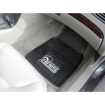New England Patriots Heavy Duty 2-Piece Vinyl Car Mats - shopADON