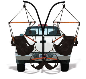 Hammaka Trailer Hitch Stand with Jet Black Hammaka Chairs Combo - shopADON