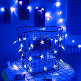 10-40stars Led string Light 1M-5M Length strip Battery box powered for party home kid's room holiday christmas decor W - shopADON