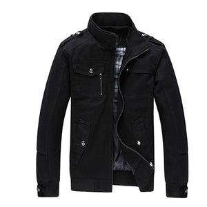 Casual Men's Jacket Spring Army Military - shopADON