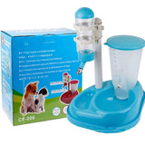 Adjustable Pet water food fountain container dispenser feeder Automatic - shopADON